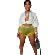 Pleated Ruffled Mini Hot Shorts