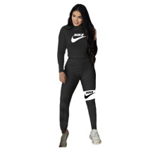 Nike Clothes Pattern Offset Printing Pits Long Women's Sets