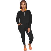 Casual Button Streetwear Jumpsuit
