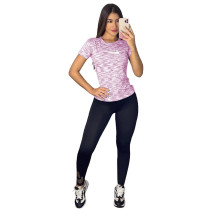 Casual Womens Sets Printed Sportswear Two Piece Set