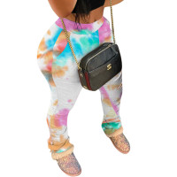 Autumn Printed Pleated Sports Trousers