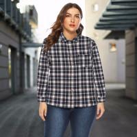 Autumn Long Sleeve Women Plaid Shirt