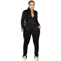 Women Black Pantsuit High Off Life Sweatpants Fall Clothes Sweat Suit Set
