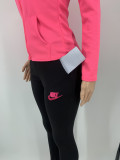 Cotton Rose Sports Embroidery Pant Clothing Set with 4 Pockets