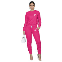Designer Clothes Rose Letter Stacked Sweatpants Jogger Sweatsuit Set