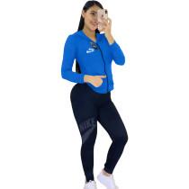 Fall Printing/Dyeing Sportswear Hoodie 2 Piece Set Women