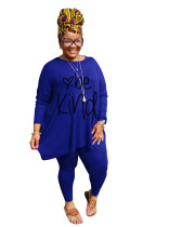 Casual Printed Loose Plus Size Lounge Wear Sets Women