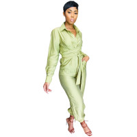 Casual Button Loungewear Jumpsuit Women's Clothing Lounge Sets