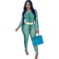 2021 Women Clothes Lounge Wear O Neck Print Fall Set Woman