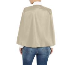 Khaki PU Leather Fake 2 Pcs Set