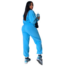 Casual Sweatsuit Loose 2 Piece Women Winter Clothes with Pocket