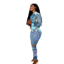 Casual Printed Pant Suit