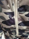 Casual Camouflage Nike Clothes Lounge Wear Sports Embroidery Hoodie Women Sweat Suit Set