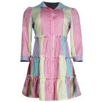 Colorful Striped Mini T-shirt Dress