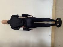 Casual Black Printed High Neck Zipper Sweatpants Pant Set
