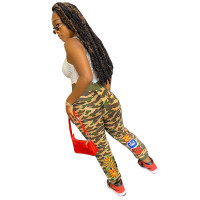 Fall Printed Camouflage Sweatpants