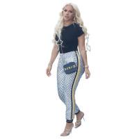 Casual High Quality Side Webbing Printed Slacks For Women