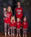Parent-child Christmas Christmas Printed Pajama Loungewear Set For Women