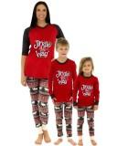 Parent-child Christmas Christmas Printed Pajama Loungewear Set For Boy