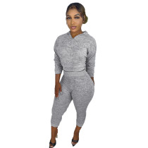 Womens Fall Clothing 2021 Solid Red V Neck Sweatpant and Hoodie Set For Women