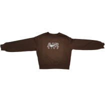 Solid Color Fall Positioning Embroidery Sweatshirt
