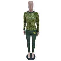 Designer Clothes Printed Fall Set Woman