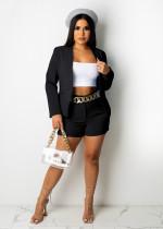 Solid Color Black Office OL Suit Set