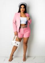 Solid Color Pink Office OL Suit Set