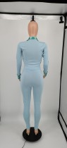 Light Blue Ladies Designer Clothes Long Sleeve Printed Sportswear Nike Sweatsuits Pant Sets