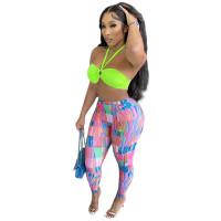 Slim Printed Sweatpants Yoga Jogging Pants