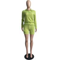 Women Knit Waffle Pajamas Set Loungewear Pant Set