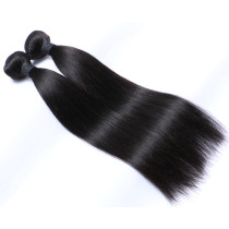 1B# Natural Black Remy Hair Silky Straight Hair Weft 100g