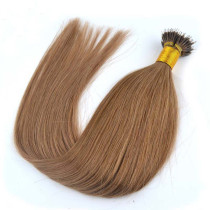 6# Chestnut Brown Brazilian Hair Nano Ring Extension 1g/strand 100g