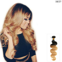 1B/27 Natural Black and Strawberry Blonde Brazilian Ombre Hair Extensions