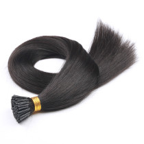 Natural Balck Stick/I Tip Hair Extensions 100g 1g per strand