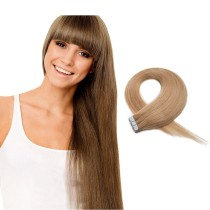 Medium Colour 27# Strawberry Blonde Tape In Remy Hair Extensions