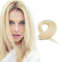 Light Blonde Colour 613# Beach Blonde Brazilian Hair Tape In Extensions