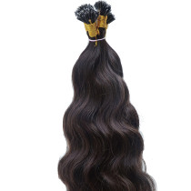 1B# Natural Black Body Wave Hair Extension with Mini Nano Tip 100g