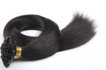 1B Silk Straight Pre-Bonded Virgin Nail Tip Hair Extensions