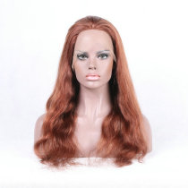 Vibrant Red 33# Virgin Human Hair Full Lace Wig Body Wave