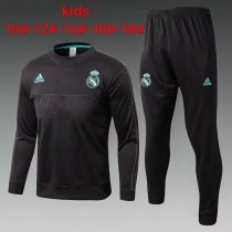 Kids Real Madrid Training Suit O'Neck Black 2017/18