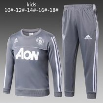 Kids Manchester United Training Suit O'Neck Light Grey 2017/18