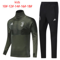 Kids Juventus Training Suit Turtle Neck Champions League Green 2017/18
