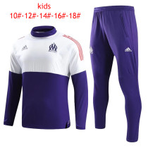 Kids Olympique Marseille Training Suit O'Neck White/Purple 2017/18