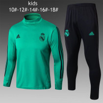 Kids Real Madrid Training Suit Turtle Neck Aqua 2017/18