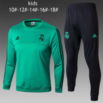 Kids Real Madrid Training Suit O'Neck Aqua 2017/18