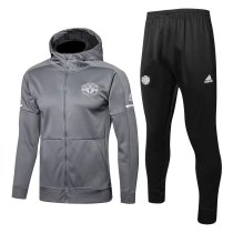 Manchester United Hoodie Jacket + Pants Training Suit Light Grey 2017/18
