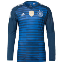 Germany FIFA World Cup 2018 Goalkeeper Blue Jersey Long Sleeve Men's