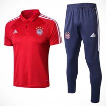 Bayern Munich Polo + Pants Training Suit Red 2017/18