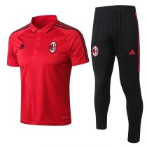 AC Milan Polo + Pants Training Suit Red 2017/18